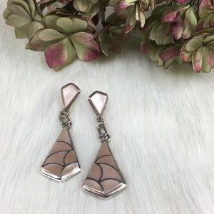Sterling Silver Mother of Pearl Dangle Earrings